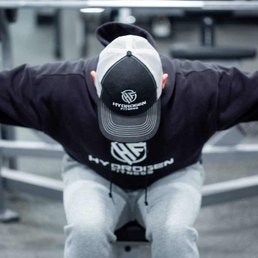hydrogen fitness hat and hoodie